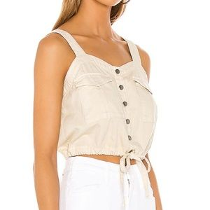 WE THE FREE Palm Desert Solid Top in Ivory SIZE M